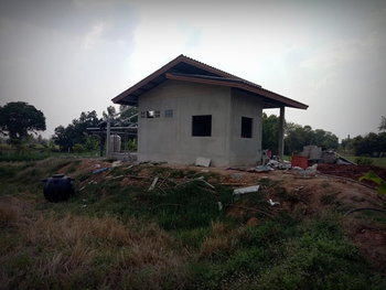 แบบบ้านชั้นเดียวยกพื้น บ้านไร่ปลายนา งบ 350,000 บาท