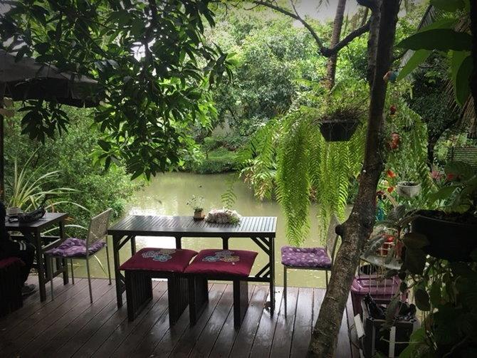 แบบร้านกาแฟในบ้านสวน