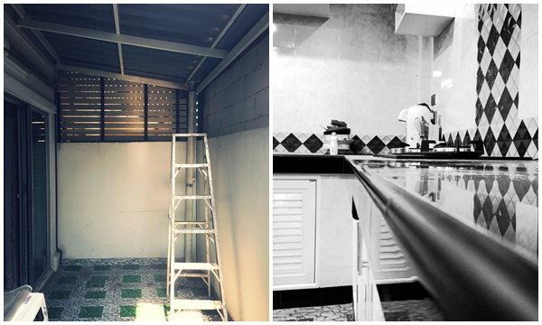 เปลี่ยนห้องครัวโล่งๆ  เป็นห้องครัวแบบดิบๆ กับงบนิดๆ ที่คุ้มค่า