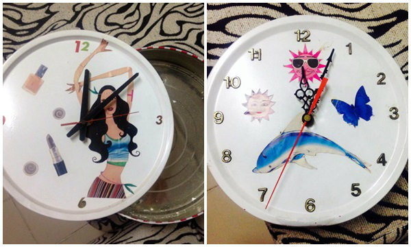 DIY นาฬิกา จากกล่องคุกกี้