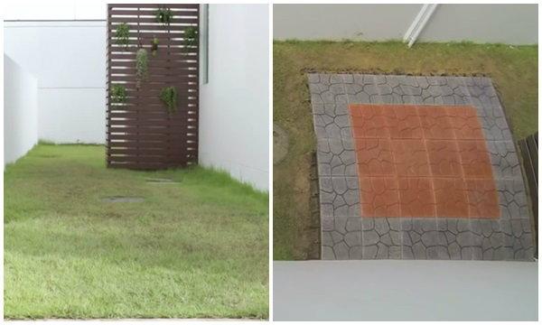 แต่งสวนข้างบ้านด้วยกระเบื้องปูพื้นตราช้าง