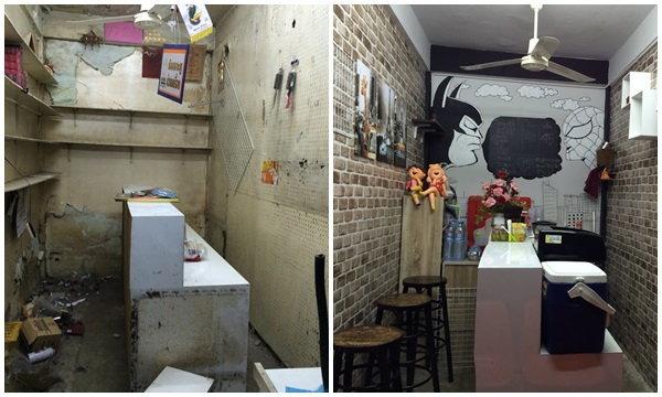 รีโนเวทแผงลอยเก่าเป็นร้านกาแฟเล็กๆ