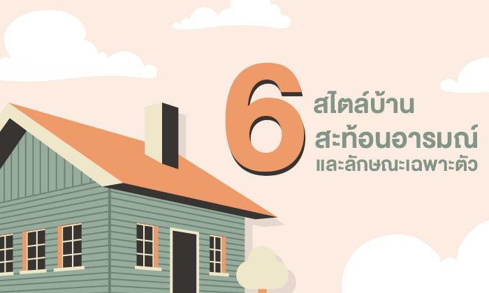 6 สไตล์บ้าน สะท้อนอารมณ์และลักษณะเฉพาะตัว