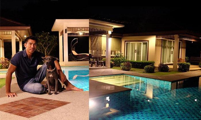 เปิดบ้านบอล ภราดร ศรีชาพันธุ์ที่พัทยา มีสระว่ายน้ำ คอร์ทเทนนิสพร้อม