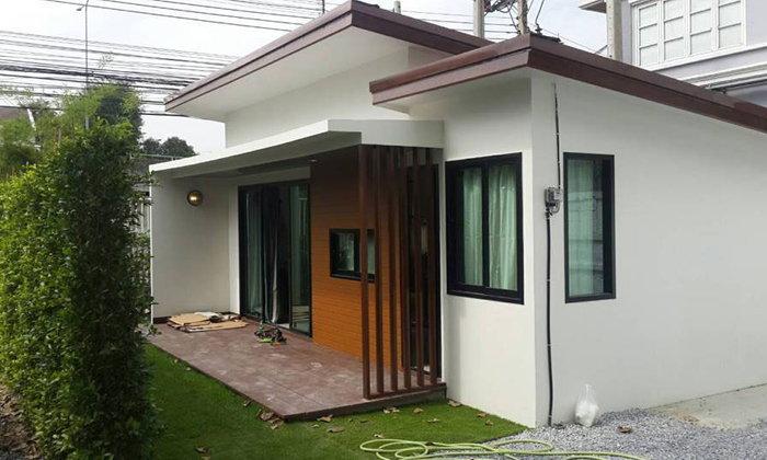 แบบบ้านน็อคดาวน์สไตล์โมเดิร์น รูปแบบใหม่ราคา 380,000 บาท