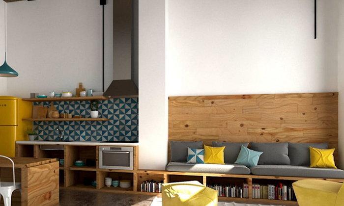 แรงบันดาลใจสร้างง่ายในห้องครัวขนาดเล็ก