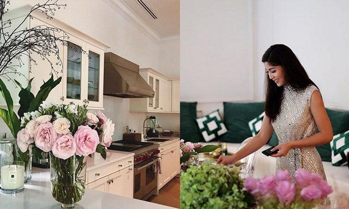 """จัดดอกไม้ จุดเทียนหอม เทคนิคจัดบ้านมัดใจสามีของ """"เอมมี่ มรกต"""""""