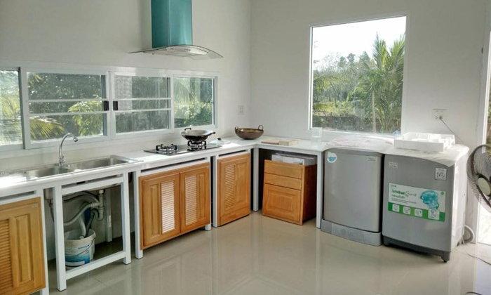 รีวิวการตกแต่งห้องครัวมุมเครื่องซักผ้าด้วยตัวเอง