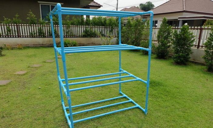 DIY ชั้นวางอเนกประสงค์จากท่อ PVC ดูดี ทำง่าย แถมประหยัดด้วย