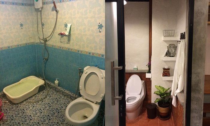 รีโนเวทห้องน้ำเล็กๆ สู่ห้องน้ำสไตล์รีสอร์ท โมเดิร์นลอฟท์สวยๆ
