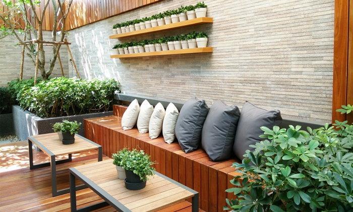 จัดสวนเพิ่มพลังเสริมฮวงจุ้ยให้รู้สึกดีตั้งแต่ทางเข้า