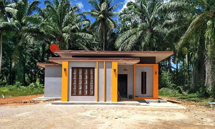 บ้านโมเดิร์นลอฟท์หลังเล็ก โทนสีเหลือง 2 ห้องนอนงบก่อสร้าง 700,000 บาท