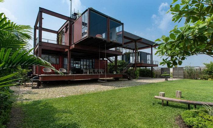 บ้านจากตู้คอนเทนเนอร์ ออกแบบและตกแต่งในบรรยากาศที่ใกล้ชิดกับธรรมชาติ พร้อมมุมพักผ่อนหลากหลาย