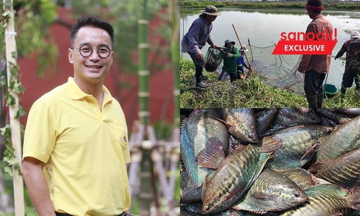 """""""เจตน์ โศภิษฐ์พงศธร"""" แปลงพื้นที่ร้างประโยชน์เป็น Akasha Farm บ่อปลาสลิดพอเพียง"""