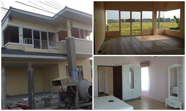 รีวิวสร้างบ้านใหม่ที่บ้านนอกเพื่อเตี่ยและแม่