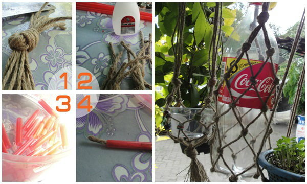 DIY ที่แขวนต้นไม้จากขวดน้ำอัดลม ง่ายๆ ทำได้เลย