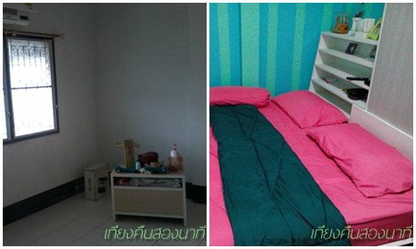 เปลี่ยนห้องนอนเก่าให้น่านอน แบบลงมือทำเองทุกขั้นตอน