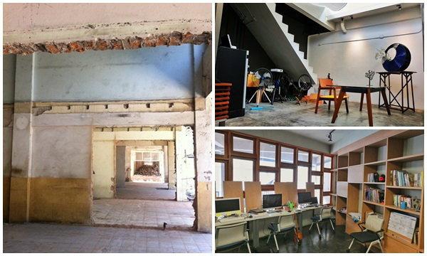 """ห้องเก่าร้าง 35 ปี แปลงร่างเป็น """"บูรณะสถาน"""" สำนักงานนั่ง นั่ง นอน นอน"""