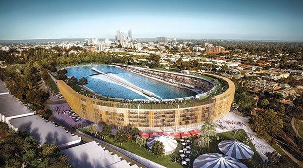 สุดอลังการ! เปลี่ยนสนามฟุตบอลเป็นสระว่ายน้ำขนาดมหึมา