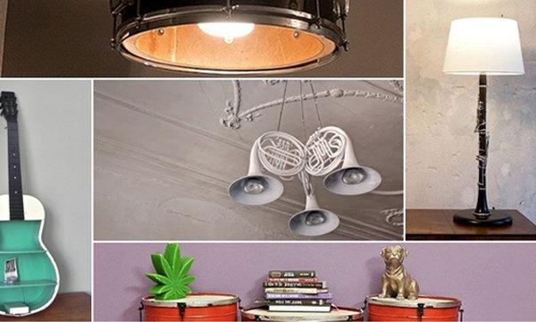 10 ไอเดียที่ยอดเยี่ยมในการนำเครื่องดนตรีมารีไซเคิลเป็นของใช้ภายในบ้าน