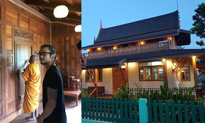 บ้านตูน บอดี้สแลมที่สุพรรณบุรี บ้านหลังเดิมที่ถูกรีโนเวทเป็นบ้านเรือนไทย