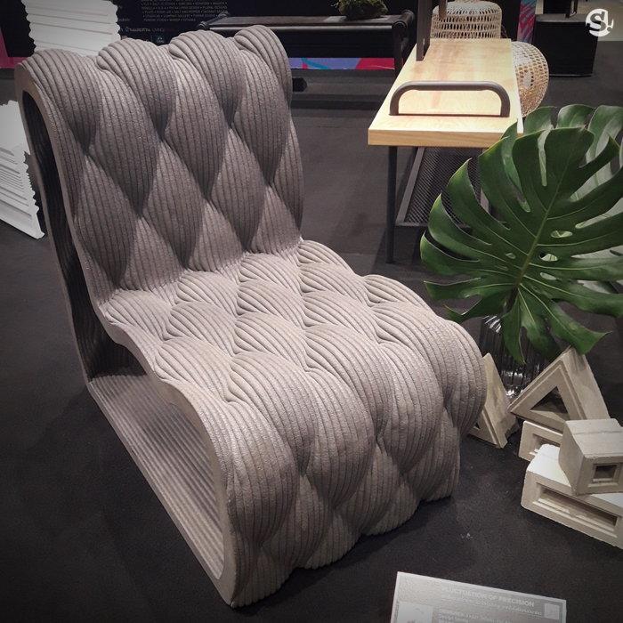 เก้าอี้คอนกรีตจาก 3D Printing