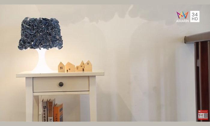 DIY โคมไฟ ผ้าที่เหลือใช้ กลายมาเป็นลวดลายของโคมไฟ ที่ไม่ธรรมดา
