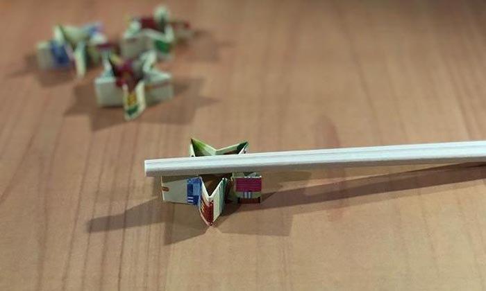 ที่วางตะเกียบสำคัญไฉน วิธีพับที่รองตะเกียบง่าย ๆ จากซองตะเกียบ
