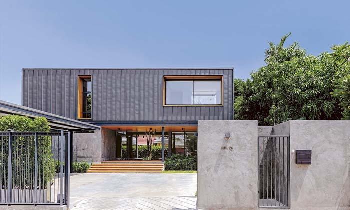 MP HOUSE  บ้านทรงกล่องที่เน้นความเป็นส่วนตัวสูง