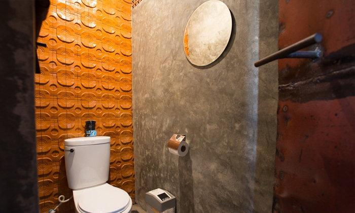 ห้องน้ำเท่ๆ ดิบแบบปูน
