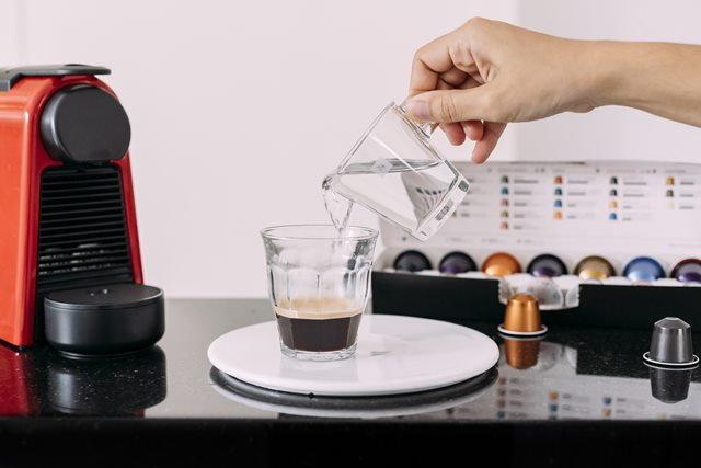 สูตรชงกาแฟร้อนกาแฟอเมริกาโนด้วย Nespresso Capsule