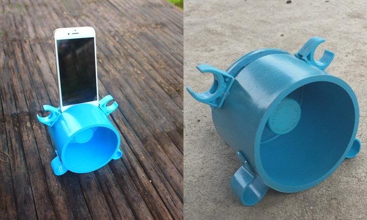 """DIY วิธีเพิ่มเสียงลำโพงมือถือด้วย """"ฝาท่อ PVC"""" ประหยัดเงินในกระเป๋า ได้อุปกรณ์จิ๋วสุดเจ๋งไว้ใช้งาน"""
