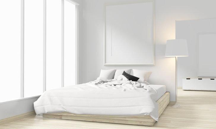 ตกแต่งห้องนอนแบบประหยัด เรียบง่าย สไตล์ ZEN