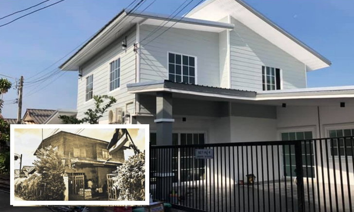 """รีโนเวทบ้านครึ่งไม้ครึ่งปูนเก่าให้กลายเป็น """"บ้านโมเดิร์นโทนสีขาว"""" ดีไซน์ทันสมัย น่าอยู่ยิ่งกว่าเดิม"""