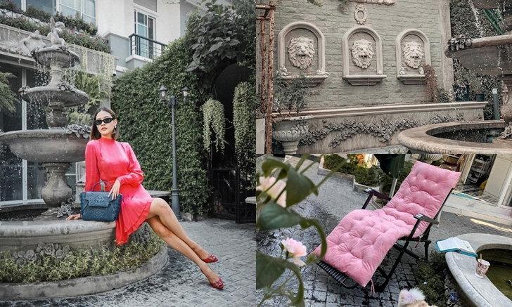 """สวนสไตล์นีโอคลาสสิกของ """"ปุ๊กลุก ฝนทิพย์"""" ความสวยงามหรูหราที่ลงตัว"""
