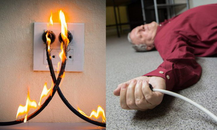 """เสียบปลั๊กเครื่องใช้ไฟฟ้า ระวัง """"ไฟช็อต vs ไฟดูด"""""""