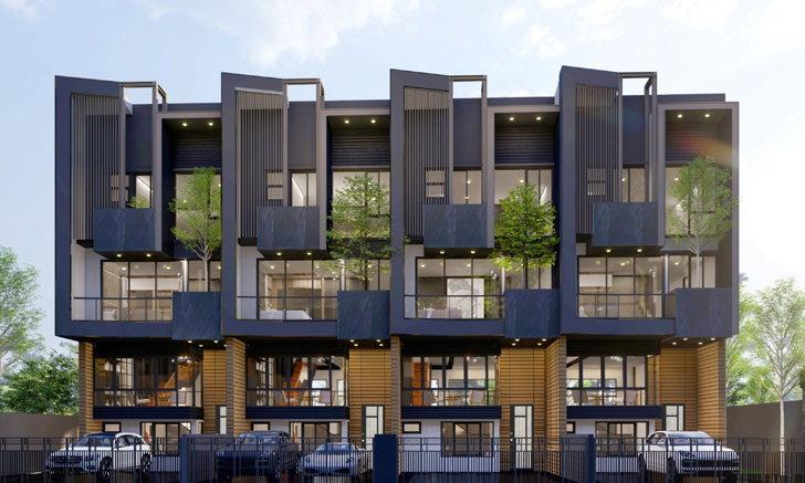 The Eight (จตุจักร - รัชดา) โครงการใหม่จาก G-Land Property  บ้าน 3.5 ชั้น สไตล์โมเดิร์น