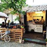 แบบร้านกาแฟใต้ร่มไม้ จากตู้คอนเทนเนอร์เก่า