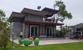 รีวิวการสร้างบ้านชั้นเดียว สไตล์โมเดิร์นลอฟท์ หลังคาเพิงหมาแหงนเล่นระดับในงบ 4 แสนบาท