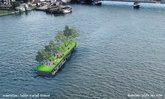 """ภูมิสถาปนิกไทยไอเดียเก๋ เปลี่ยนเรือขนทรายเป็น """"สวนสาธารณะลอยน้ำ"""" แห่งแรกของกรุงเทพฯ"""