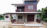 บ้านครึ่งไม้ครึ่งปูน ตกแต่งสวยงามมีเอกลักษณ์ ผสมผสานระหว่างสองวัสดุได้อย่างลงตัว