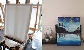 แต่งบ้านสุดเก๋ด้วยภาพวาดสีอะครีลิคฝีมือตัวเอง