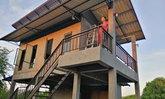 แบบบ้าน 2 ชั้น ใต้ถุนสูงสไตล์โมเดิร์นลอฟท์หลังเล็กสวยงามงบประมาณ 800,000 บาท