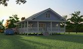แบบบ้านตากอากาศยกพื้นสูง บรรยากาศอบอุ่นดั้งเดิม มาพร้อมเฉลียงโปร่งรอบบ้าน