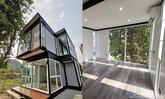 บ้านพักตากอากาศน็อคดาวน์โครงเหล็ก 2 ชั้น 2 ห้องนอน 1 ห้องน้ำ พื้นที่ใช้สอยกว้างขวาง