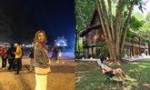 """ร่มรื่นมาก """"บ้านตุ๊ก จันทร์จิรา"""" บ้านครี่งปูน ครึ่งไม้ ใต้ถุนสูง มองเห็นทิวเขา"""