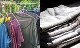 """วิธีทำให้ผ้าแห้งเร็วด้วย """"ผ้าเช็ดตัว"""" พายุมาก็ไม่หวั่น"""