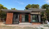 บ้านชั้นเดียวหลังเล็กสไตล์โมเดิร์น รีโนเวทจากห้องครัว 1 ห้องนอน 1 ห้องน้ำ พื้นที่ 31 ตร.ม.
