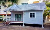 บ้านหลังน้อย 1 ห้องนอน แข็งแรงทนทานด้วยโครงสร้างเหล็ก สร้างได้ในงบประมาณเพียง 6 แสนบาท