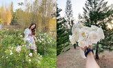 """ช่อกุหลาบดูเล็กไปเลย ชม """"สวนกุหลาบ"""" แห่งความรัก ที่เขาใหญ่ของ """"มิว นิษฐา"""""""